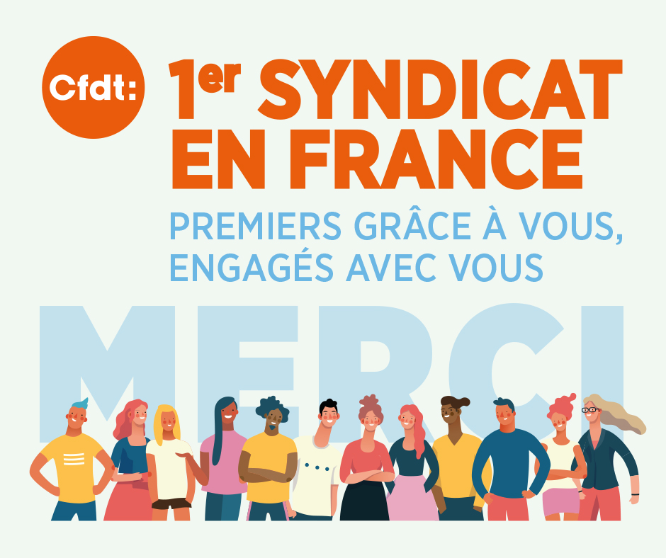 CFDT 1er syndicat en France